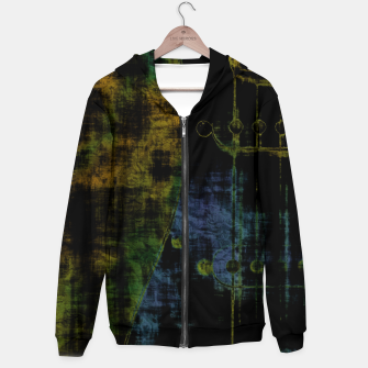 Deluminated Cotton zip up hoodie thumbnail image