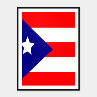 Miniatur Flag of Puerto Rico  Framed poster, Live Heroes