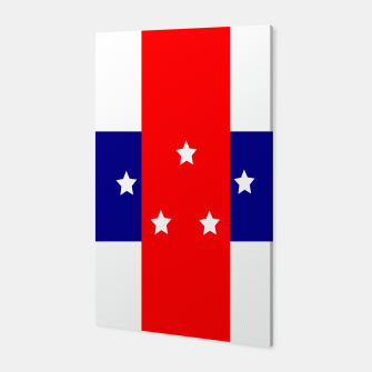 Thumbnail image of Flag of the Netherlands Antilles Canvas, Live Heroes
