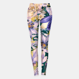 Thumbnail image of flowers blue Legginsy, Live Heroes