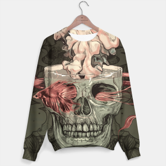 Thumbnail image of Red Fish and Smokey Skull Cotton sweater, Live Heroes