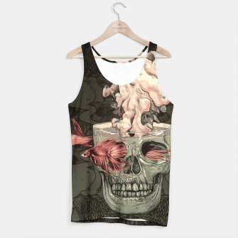Thumbnail image of Red Fish and Smokey Skull Tank Top, Live Heroes