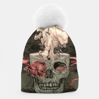 Thumbnail image of Red Fish and Smokey Skull Beanie, Live Heroes