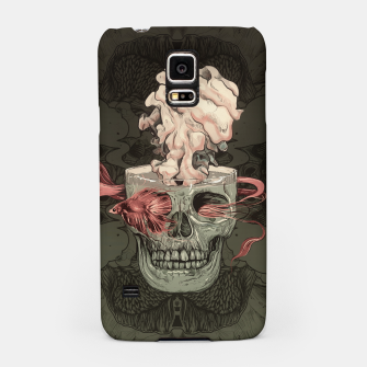 Miniatur Red Fish and Smokey Skull Samsung Case, Live Heroes