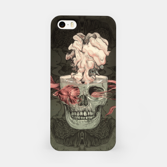 Thumbnail image of Red Fish and Smokey Skull iPhone Case, Live Heroes