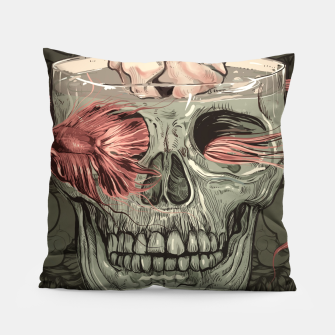 Thumbnail image of Red Fish and Smokey Skull Pillow, Live Heroes