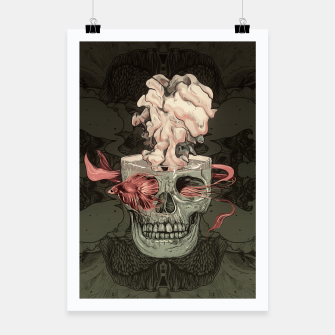 Miniatur Red Fish and Smokey Skull Poster, Live Heroes