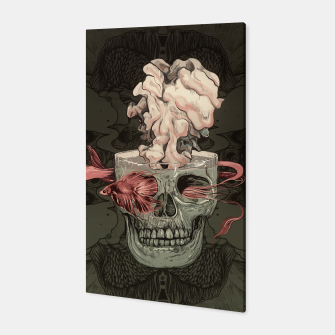 Thumbnail image of Red Fish and Smokey Skull Canvas, Live Heroes