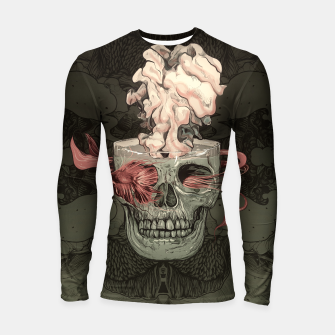 Miniatur Red Fish and Smokey Skull Longsleeve rashguard , Live Heroes