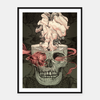 Miniatur Red Fish and Smokey Skull Framed poster, Live Heroes