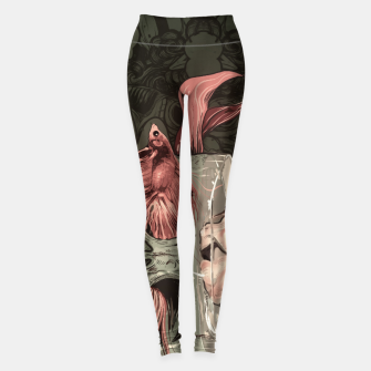 Thumbnail image of Red Fish and Smokey Skull Leggings, Live Heroes
