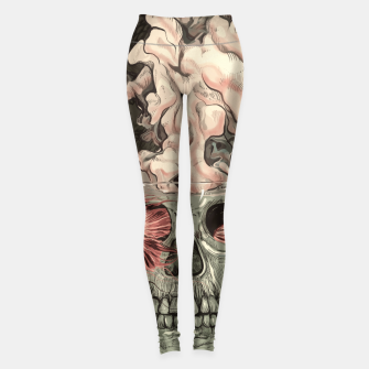Miniatur Red Fish and Smokey Skull Leggings, Live Heroes
