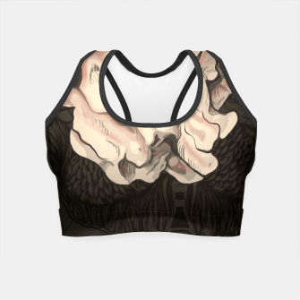 Thumbnail image of Red Fish and Smokey Skull Crop Top, Live Heroes