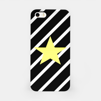 Thumbnail image of Star - Abstract geometric pattern - black and white. iPhone Case, Live Heroes