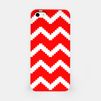 Thumbnail image of Abstract geometric pattern - red and white. iPhone Case, Live Heroes