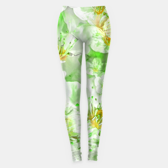 Thumbnail image of Light Floral Collage Leggings, Live Heroes