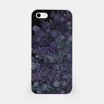 Thumbnail image of Hand-painted Violet and Teal 3d Psychedelic Floral Pattern iPhone Case, Live Heroes