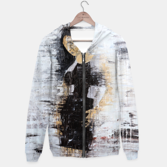 "Thumbnail image of ""1206 abstract fashion series"" Cotton zip up hoodie, Live Heroes"