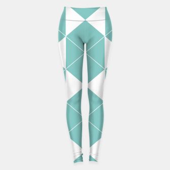Miniatur Abstract geometric pattern - blue and white. Leggings, Live Heroes