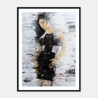 "Thumbnail image of ""1206 abstract fashion series"" Framed poster, Live Heroes"