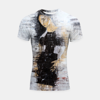 "Thumbnail image of ""1206 abstract fashion series"" Shortsleeve rashguard, Live Heroes"