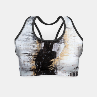 "Thumbnail image of ""1206 abstract fashion series"" Crop Top, Live Heroes"