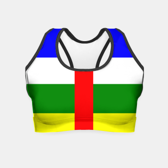 Miniatur Flag of Central African Republic  Crop Top, Live Heroes