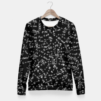Thumbnail image of Equation Overload Woman cotton sweater, Live Heroes