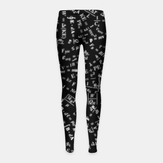 Thumbnail image of Equation Overload Girl's leggings, Live Heroes