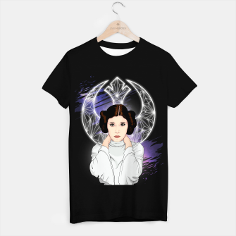 Thumbnail image of Leia Organa Camiseta Regular, Live Heroes