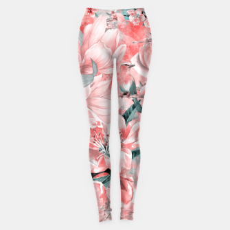 Thumbnail image of flowers and birds Legginsy, Live Heroes