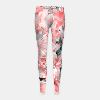 Thumbnail image of flowers and birds Legginsy dziewczęce, Live Heroes