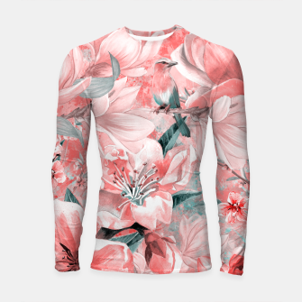 Thumbnail image of flowers and birds Rashguard długi rękaw, Live Heroes
