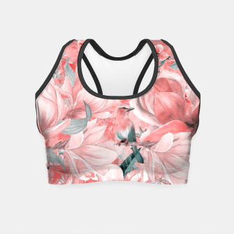 Miniaturka flowers and birds Crop Top, Live Heroes