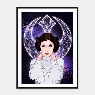 Thumbnail image of Leia Organa Cartel con marco, Live Heroes