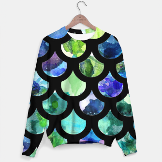 Thumbnail image of Watercolour Mermaid Pattern Cotton sweater, Live Heroes