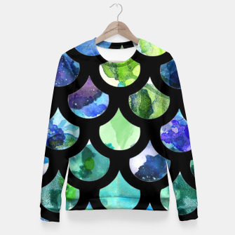 Thumbnail image of Watercolour Mermaid Pattern Woman cotton sweater, Live Heroes