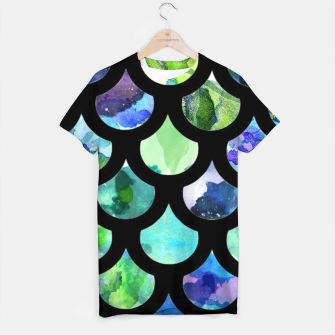 Thumbnail image of Watercolour Mermaid Pattern T-shirt, Live Heroes