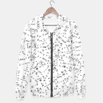 Thumbnail image of Equation Overload II Cotton zip up hoodie, Live Heroes