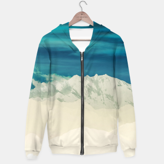 Thumbnail image of Blue Mountain Cotton zip up hoodie, Live Heroes