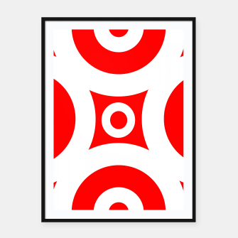 Miniatur Abstract pattern - red and white. Framed poster, Live Heroes