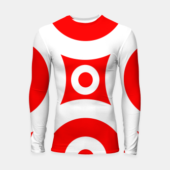 Miniatur Abstract pattern - red and white. Longsleeve rashguard , Live Heroes