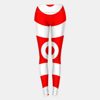 Miniatur Abstract pattern - red and white. Leggings, Live Heroes