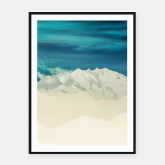 Miniatur Blue Mountain Framed poster, Live Heroes