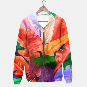 Thumbnail image of Banana Tree Cotton zip up hoodie, Live Heroes