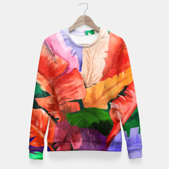 Thumbnail image of Banana Tree Woman cotton sweater, Live Heroes