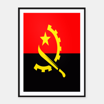 Thumbnail image of  Flag of Angola Framed poster, Live Heroes