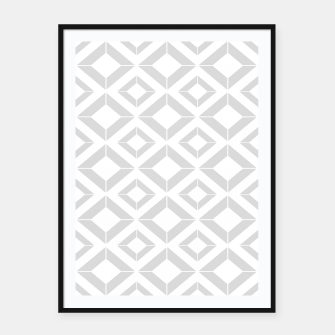 Miniatur Abstract geometric pattern - gray and white. Framed poster, Live Heroes