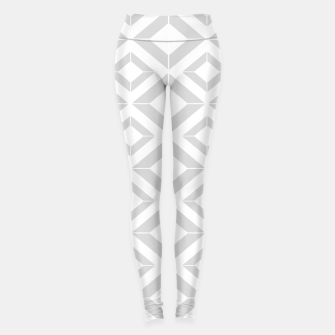 Miniatur Abstract geometric pattern - gray and white. Leggings, Live Heroes