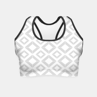 Miniatur Abstract geometric pattern - gray and white. Crop Top, Live Heroes